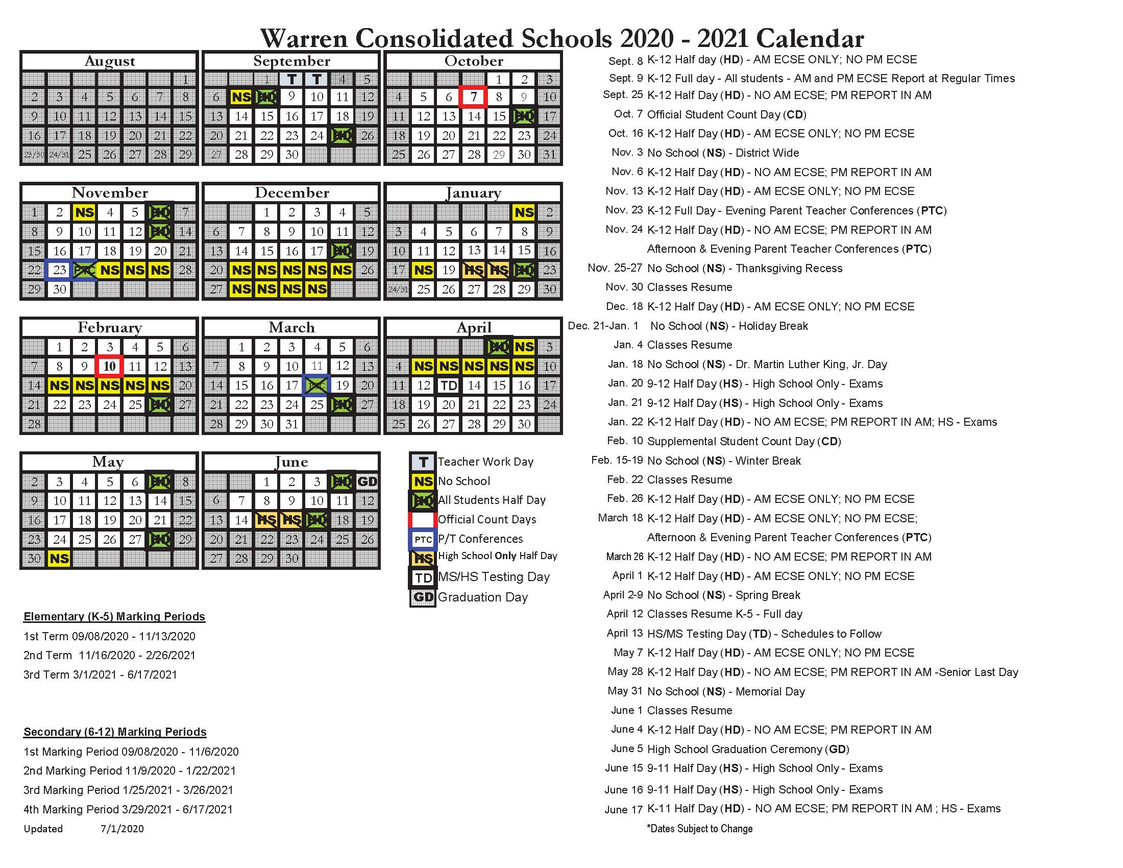 Wcs Calendar 2022.Green Acres Elementary School