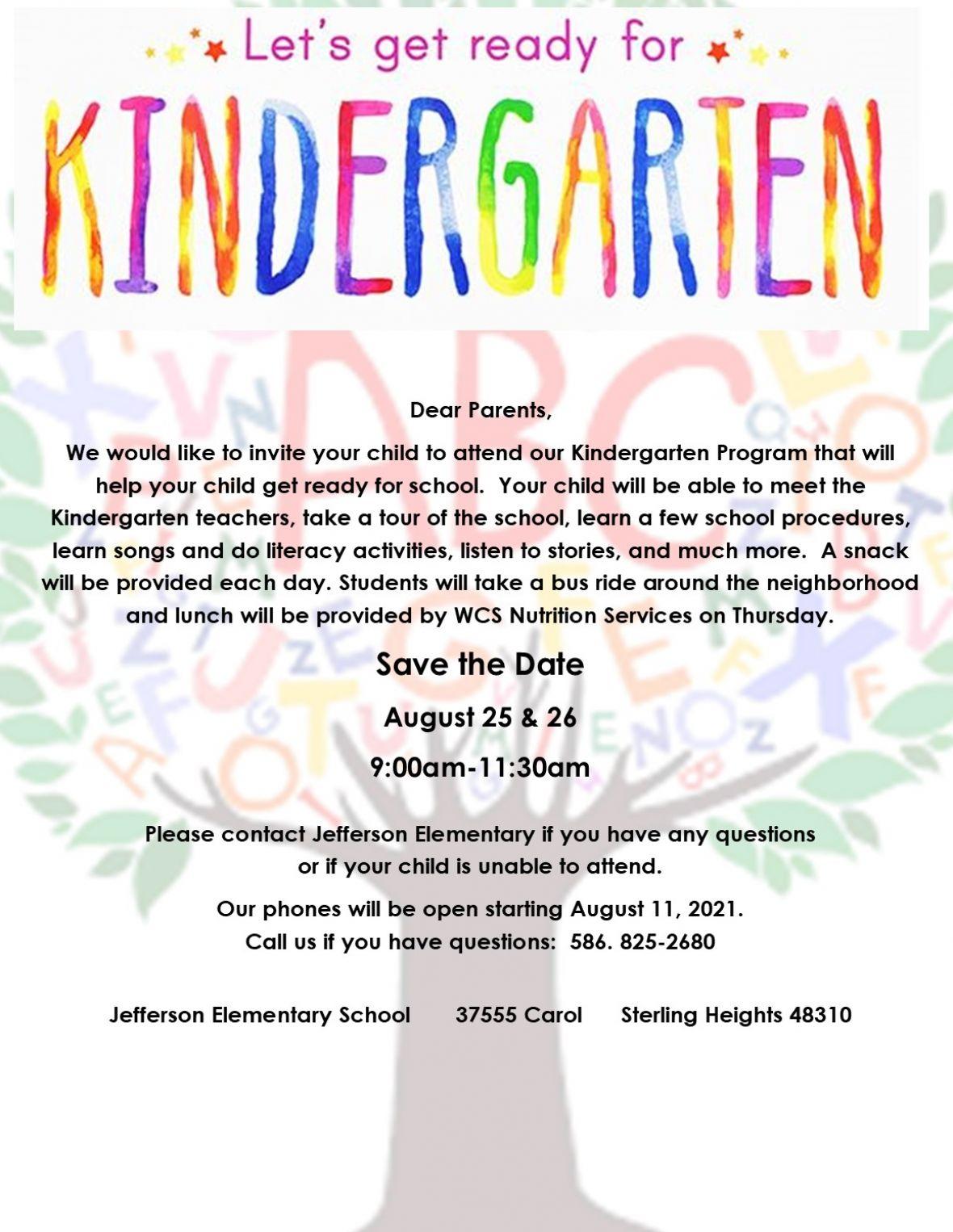 Kindergarten Camp 2021